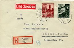 PETRIKAU /  Piotrków Trybunalski / Generalgouvernement - 1940 , R-Brief Nach Chemnitz - Occupation 1938-45