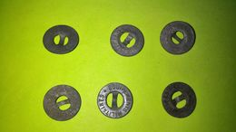 Lot De 6 BOUTONS Anciens - Diamètre Environ 14 Mm - Vêtement Armée Militaire Guerre Soldat /13 - Knoppen