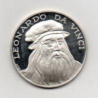 Italia - Medaglia  - ENCICLOPEDIA NUMISMATICA INTERNAZIONALE - Leonardo Da Vinci - Argento 925 - (MW2277) - Italie