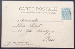 V18-1 Cachet Jour De L'An Blanc 5c 111 CPA Portrait D'Enfant - Marcophilie (Lettres)