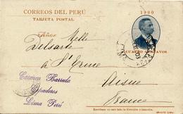 LIMA / Peru - 1903 , Tarjeta Postal - Banos De Chorillos - Nach Aisne / FR - Peru
