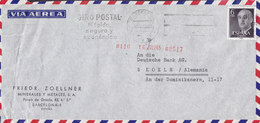 Spain Aerea FRIEDR. ZOELLNER Minerales Y Metales Slogan 'Giro Postal' BARCELONA 1965 Cover Letra DEUTSCHE BANK Germany - 1931-Heute: 2. Rep. - ... Juan Carlos I