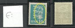 ESTLAND Estonia 1928 Michel 79 ERROR Variety Abart MNH NB! Horizontal Fold - Estland