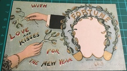 Hold To Light ~ Look Thro ~ Fortune With Love And Kisses For The New Year - Hold To Light