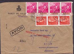 Spain BANCO DE VALENCIA Benifayo Registered Certificada VALENCIA 1963 Cover Letra DEUTSCHE BANK Germany 3- & 4-Stripes - 1931-Heute: 2. Rep. - ... Juan Carlos I
