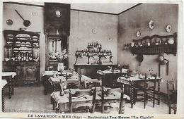 """83)  LE  LAVANDOU Sur MER  - Restaurant  TEA ROOM  """"  La Cigale  """" - Le Lavandou"""