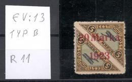 Estland Estonia 1923 Michel 44 A Incl ERROR Abart EV: 13 * Signed A. Rucins - Estland