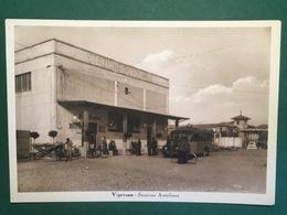 Cartolina Vigevano - Stazione Autolinee - 1930 Ca. - Pavia