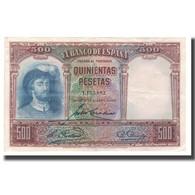 Billet, Espagne, 500 Pesetas, 1931, 1931-04-25, KM:84, TTB+ - [ 1] …-1931 : Prime Banconote (Banco De España)