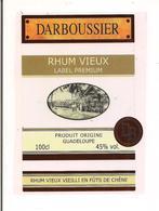 Etiquette RHUM Vieux Label Premium - 45% - Vieilli En Fûts De Chêne - DARBOUSSIER - GUADELOUPE - Décor Train De Cannes - - Rhum