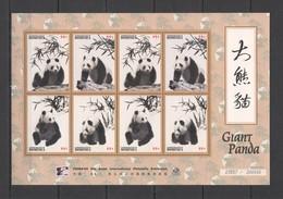N893 1996 DOMINICA FAUNA WILD ANIMALS GIANT PANDA ASIAN EXHIBITION 1KB MNH - Bears