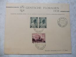 Souvenir  Leopold 3 Princesse Josephine Charlotte 1938 Floralies Gentoise - Souvenir Cards