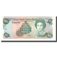 Billet, Îles Caïmans, 5 Dollars, 1991, KM:12a, NEUF - Iles Cayman
