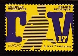 TIMBRE NEUF DE BELGIQUE - FESTIVAL TORHOUT ET WERCHTER N° Y&T 2758 - Music