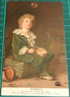 Pears Soap Advertising Postcard ~ Bubbles By Sir John Millais - Portraits