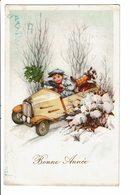 CPA - Carte Postale Belgique-Bonne Année Avec Un Petit Garçon Dans Sa Voiture1941- VM2571 - Nouvel An