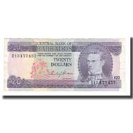 Billet, Barbados, 20 Dollars, Undated (1973), KM:34a, TTB - Barbades