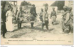 77.NEUFMONTIERS.N°31043.BLESSE MAROCAIN RAMENE A NEUFMONTIERS.1914 - Autres Communes