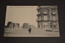 Carte Postale 1910 Coxyde Avenue De La Mer Un Coin De La Digue Teirlinck Hôtel - Belgique
