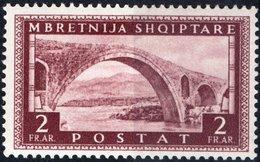 ITALIA, ITALY, OCCUPAZIONE ALBANIA, 2 Fr., 1939, FRANCOBOLLO NUOVO (MLH*) Sass. 27, Scott 321,  YT 268 - Albania