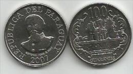 Paraguay 100 Guaranies 2007. High Grade - Paraguay