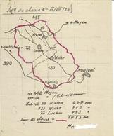 Plan De Chasse Et Documents Divers - Land De Rhénanie Palatinat Cercle De Mayen - Allemagne 1952 - Vieux Papiers