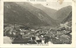 """Termignon, Val Cenis (Savoie, Francia) Vue Generale Et La Route Du Mt. Cenis, Timbro """"Posta Militare N. 111"""" - Val Cenis"""