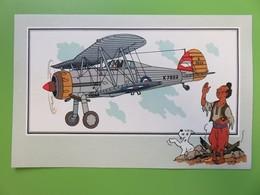 204 - Voir Et Savoir - Hergé - Collection Chèque Tintin - Aviation - N° 1 - Gloster « Gladiator » 1935 - Grande-Bretagne - Chromos