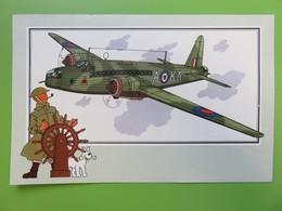 205 - Voir Et Savoir - Hergé - Collection Chèque Tintin - Aviation - N° 4 - Vickers-Armstrong « Wellington » - 1936 - Chromos