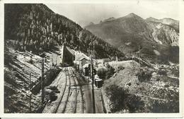 """Modane (Savoie, Francia) Entrée Du Tunnel De Frejus, Timbro """"Posta Militare N. 111"""" - Modane"""