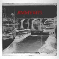 Pont De L'Isle Adam En 1900 - Plaque De Verre - Taille 43 X 45 Mlls - Glass Slides