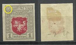 "LITAUEN Lithuania 1919 Michel 47 U + ERROR ""UETUVOS"" * - Litauen"