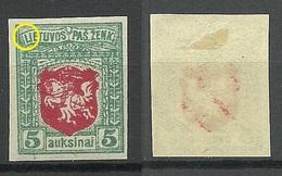 "LITAUEN Lithuania 1919 Michel 49 U + ERROR ""UETUVOS"" * - Litauen"