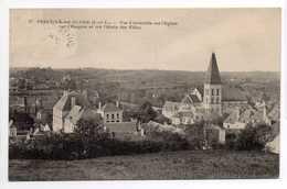 - CPA PREUILLY-SUR-CLAISE (37) - Vue D'ensemble Sur L'Eglise, L'Hospice Et L'Ecole Des Filles 1924 - - Francia