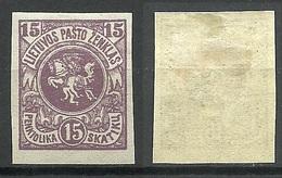 LITAUEN Lithuania 1920 Michel 61 B * - Litauen