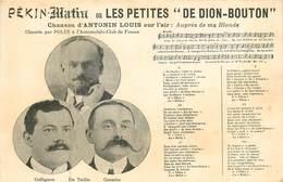 """Carte Thèmes Publicité :  Pékin-Matin Ou Les Petites """" De Dion-Bouton """"  Réf 6240 - Publicité"""