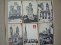 CARTES POSTALES ANCIENNES = 6 CARTES FRANCAISES  AYANT VOYAGEES - Frankrijk