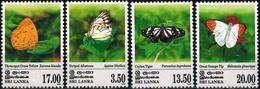 MDV-BK26-139  MINT ¤ SRI LANKA 1999 4w In Serie ¤ VLINDERS - BUTTERFLIES - MARIPOSAS - PAPILLONS - SCHMETTERLINGE - - Papillons