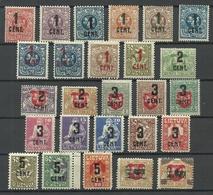 LITAUEN Lithuania 1922 Michel 138 - 166, Unused */(*) - Litauen