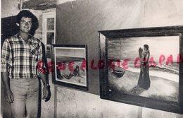 86- CHARROUX- JEAN LOUIS LORIOLLE PEINTRE - PEINTURE -RARE PHOTO ORIGINALE - Métiers