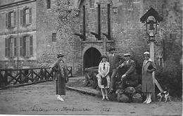 35 CARTE PHOTO CHATEAU DE MONTMURAN EN 1926  TRES ANIMEE - Francia