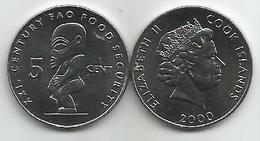 Cook Islands 5 Cent 2000. FAO UNC - Cook