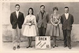Photo : BREN - Drome : Classe 63 ( Rozier- Dumaire - Tribouillet ) - Format 13,7cm X 9cm - Places