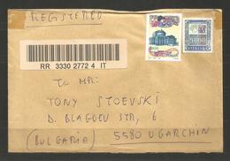 ITALIA  -  Traveled Cover To BULGARIA  - D 3874 - 6. 1946-.. Republik