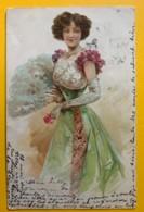 8501 - Femme En Robe Verte - Femmes