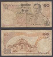Thailand 10 Baht 1969-79 (VG-F) Condition Banknote King Rama P-83 - Thailand