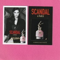 Jean-Paul GAULTIER **  Nouveau**Scandal à Paris** La Nouvelle Eau De Toilette** Avec Patch - Perfume Cards