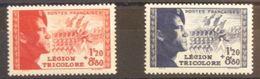 FRANCE N°565-566 N**  Cote 25€ - Nuevos