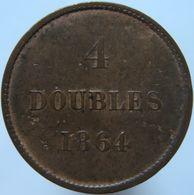 Guernsey 4 Doubles 1864 VF - Guernsey