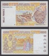 West African States 1000 Francs 1999 (XF-AU) CRISP Banknote P-111A - Estados De Africa Occidental